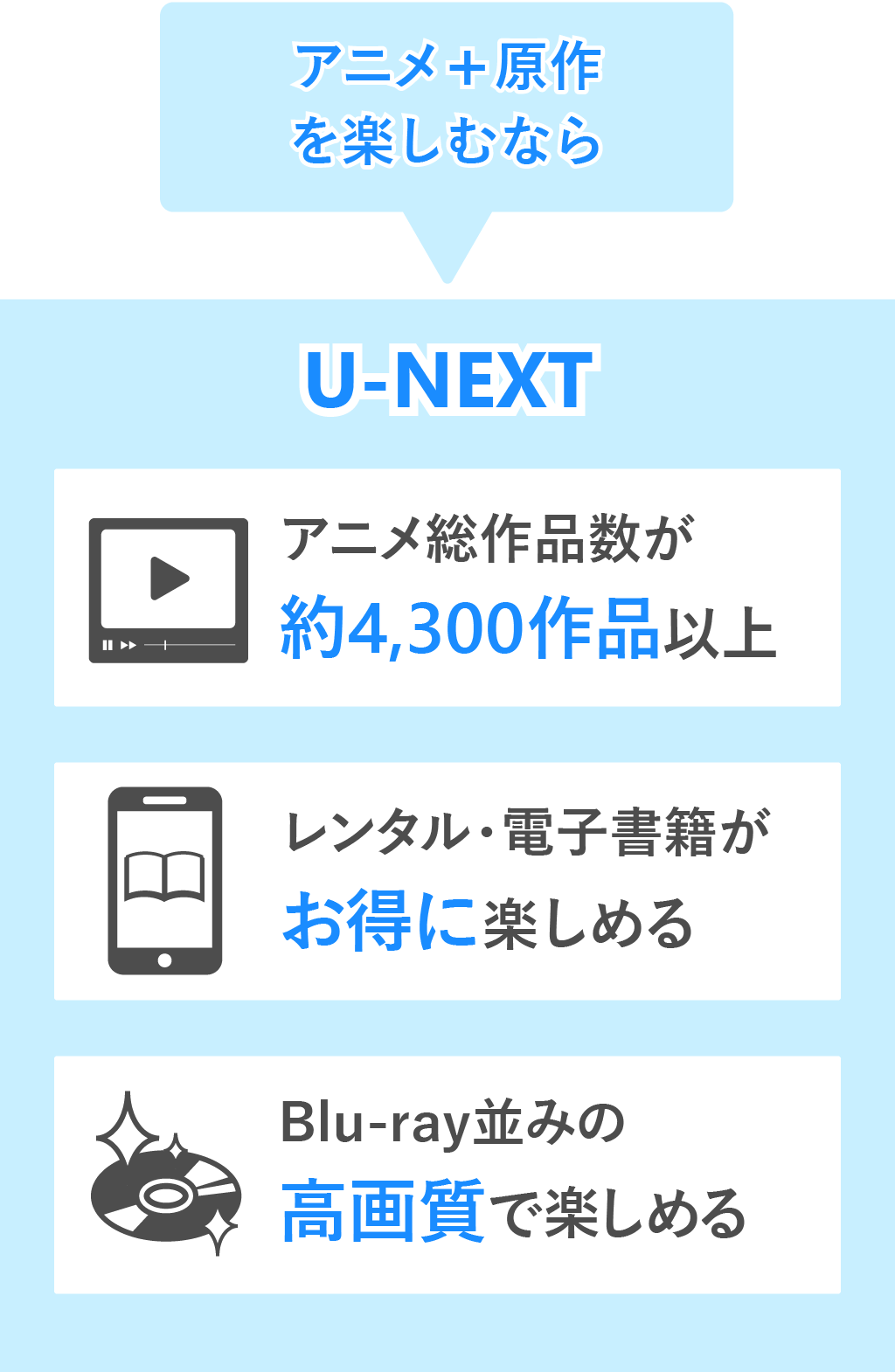 U-NEXTのおすすめポイント